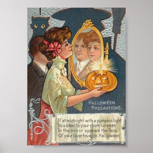 Halloween Precautions Canvas Art Print