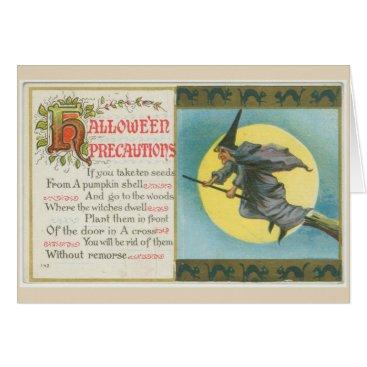 Halloween Themed Halloween Precautions card