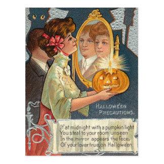 Halloween Precautions Postcard