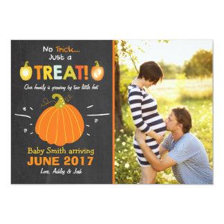 Halloween  pregnancy announcement Trick or Treat
