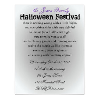 Halloween Princess 4.25x5.5 Paper Invitation Card