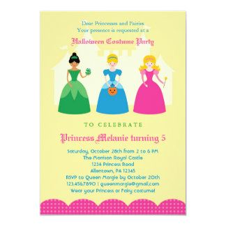Halloween Princess Costume Party Invitation