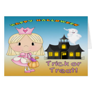 Halloween Princess Greeting Card