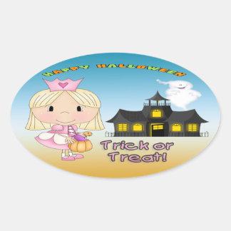 Halloween Princess Oval Stickers