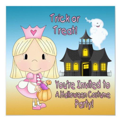 Halloween Princess Party Invitations