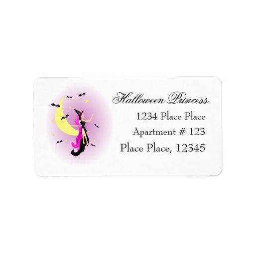 Halloween Princess Personalized Address Label