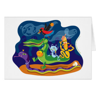 Halloween Procession Greeting Cards
