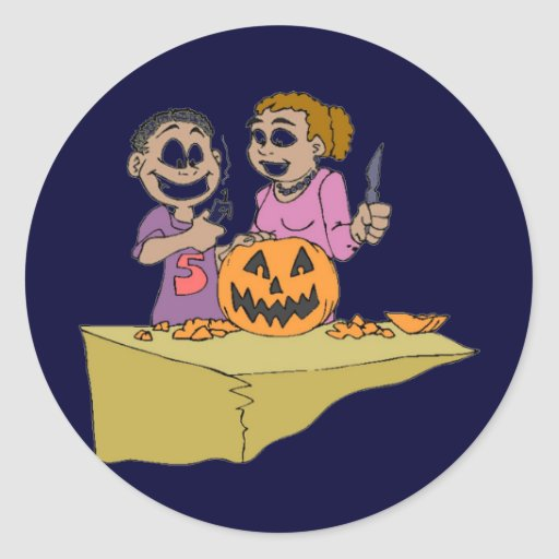 Halloween Products Round Stickers