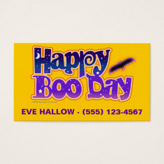 Halloween Profile Cards - Happy Boo Day