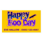 Halloween Profile Cards - Happy Boo Day Business Card