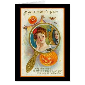 Halloween puede sino revelar tarjeton