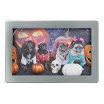 Halloween - Pug and Pom X - Bear Pearl Bruno Rectangular Belt Buckle