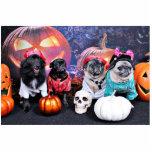 Halloween - Pug and Pom X - Bear Pearl Bruno Photo Cutouts