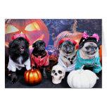 Halloween - Pug - Bruno Pearl Bear Ms Wiggens Cards