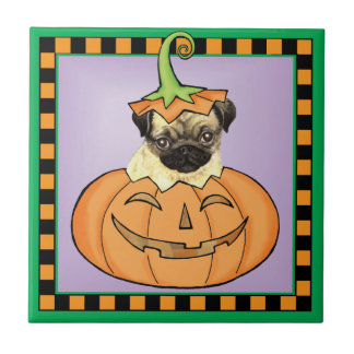 Halloween Pug Ceramic Tile