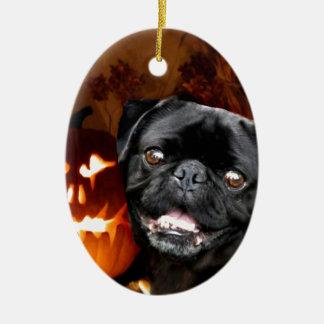 Halloween Pug Dog Ceramic Ornament