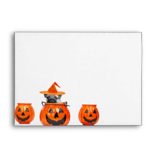 Halloween pug dog envelope