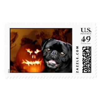 Halloween Pug Dog Stamps