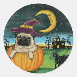 Halloween Pug Dog Stickers