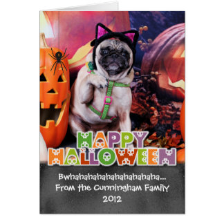 Halloween - Pug - Lily Lou Greeting Card
