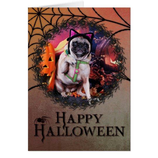 Halloween - Pug - Lily Lou Card