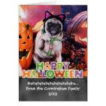 Halloween - Pug - Lily Lou Greeting Card
