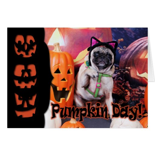 Halloween - Pug - Lily Lou Greeting Cards