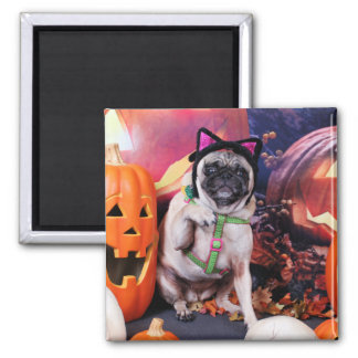 Halloween - Pug - Lily Lou Fridge Magnet