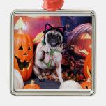 Halloween - Pug - Lily Lou Christmas Tree Ornaments