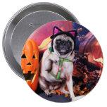 Halloween - Pug - Lily Lou Pinback Button