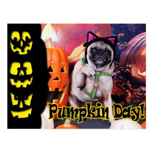 Halloween - Pug - Lily Lou Post Cards