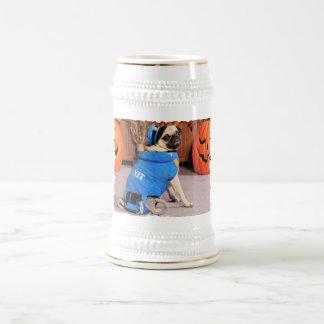 Halloween - Pug - QuaziMoto - Stephanie 18 Oz Beer Stein