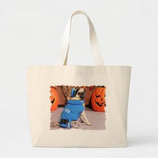 Halloween - Pug - QuaziMoto - Stephanie Tote Bag