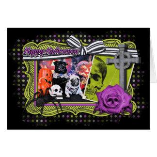 Halloween - Pug - Ruffy and Lola Cards