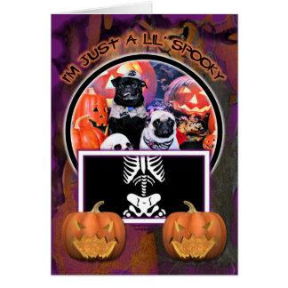 Halloween - Pug - Ruffy and Lola Greeting Cards