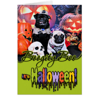 Halloween - Pug - Ruffy and Lola Card