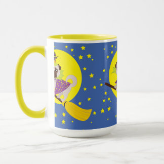 Halloween Pug Witch Mug