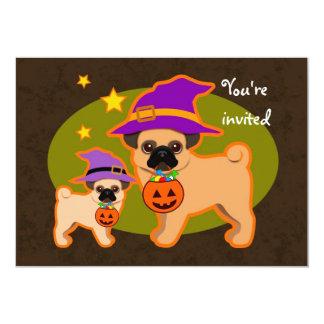 Halloween pugs card