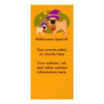 Halloween pugs rack card