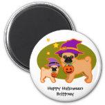 Halloween pugs refrigerator magnet
