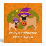 Halloween pugs vinyl binders