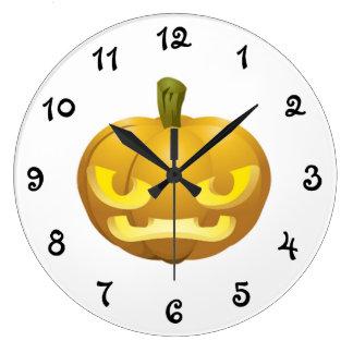 Halloween Pumkin Large Clock