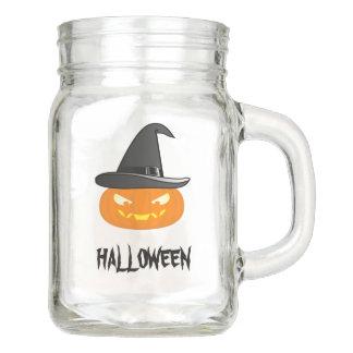 Halloween Pumkin Mason Jar