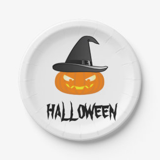 Halloween Pumkin Paper Plate