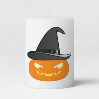 Halloween Pumkin Pillar Candle