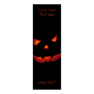 Halloween Pumpkin 001 - Bookmark Double-Sided Mini Business Cards (Pack Of 20)