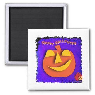 Halloween Pumpkin 2 Inch Square Magnet