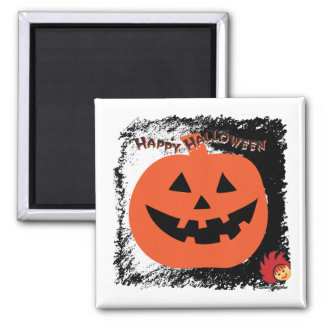 Halloween Pumpkin 6 2 Inch Square Magnet