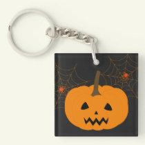 Halloween Pumpkin Acrylic Keychain