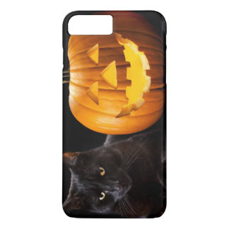 Halloween pumpkin and black cat iPhone 7 plus case